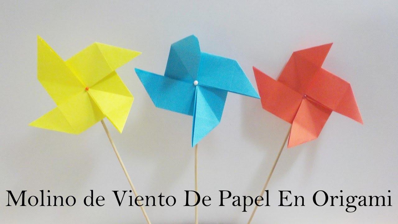 Molino de viento en origami molino de viento de papel for Piscina molino de viento y sombrilla