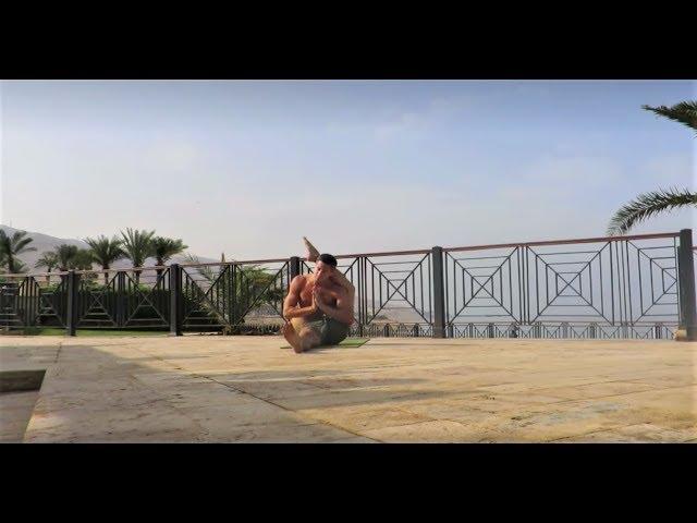 Yoga Demo at Dead Sea Jordan by Yogi Kaivalyananda