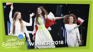 Roksana Wgiel - Anyone I Want To Be - Poland  - WINNER - LIVE - Junior Eurovision 2018