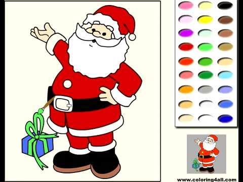 santa claus coloring game p gina en l nea para colorear santa claus juegos para ni os youtube. Black Bedroom Furniture Sets. Home Design Ideas