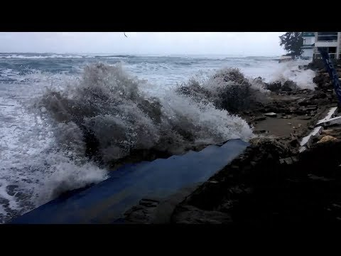 Cabarete Pounded by HUGE Waves AGAIN!!! 4.5m 16s - March 2018