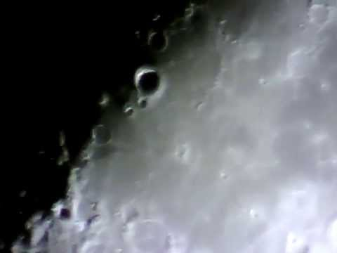 The moon with celestron eq powerseeker telescope youtube