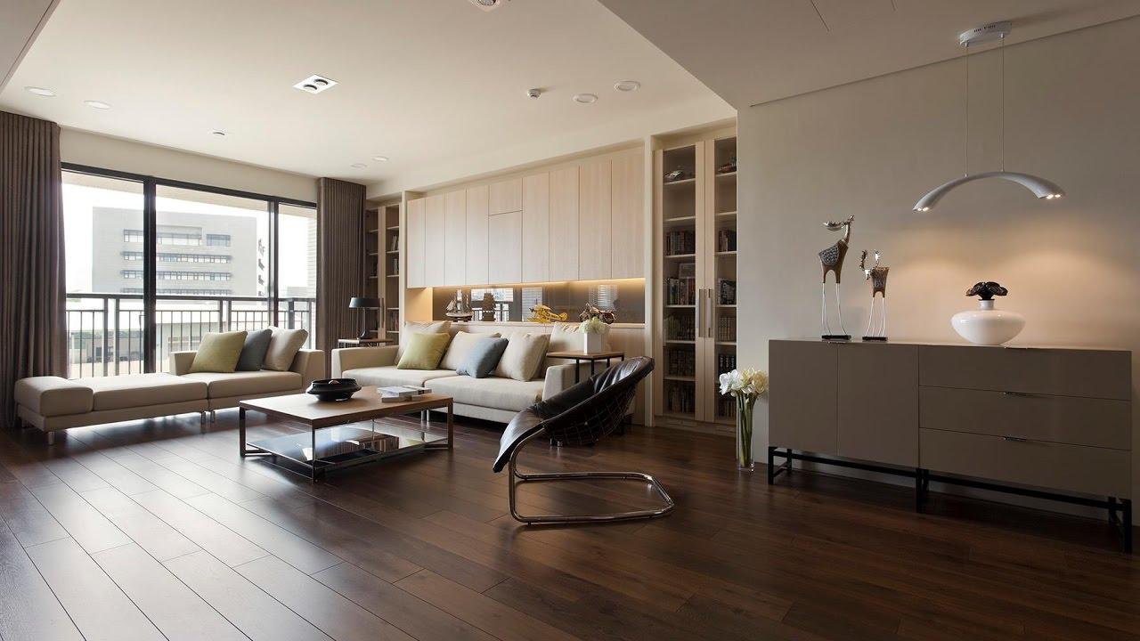 Living Room Dark Wood Interior Design