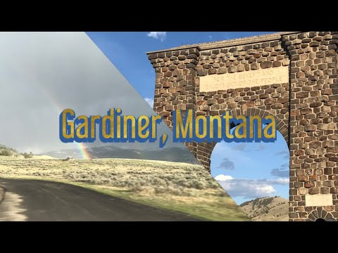 Gardiner, Montana and Roosevelt Arch North Entrance of Yellowstone National Park