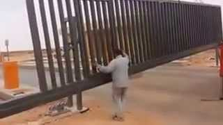 Install Cantilever Industrial Sliding Gate Door Khaled Abukhashabeh