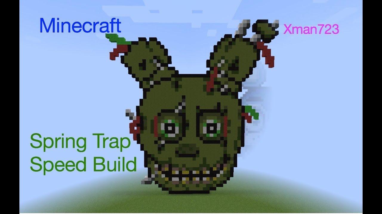 Minecraft Speed Build Springtrap Fnaf 3