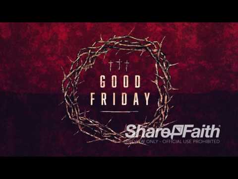 Good Friday Cross And Crown  - Worship Media  & Church Motion Graphic | Sharefaith.com