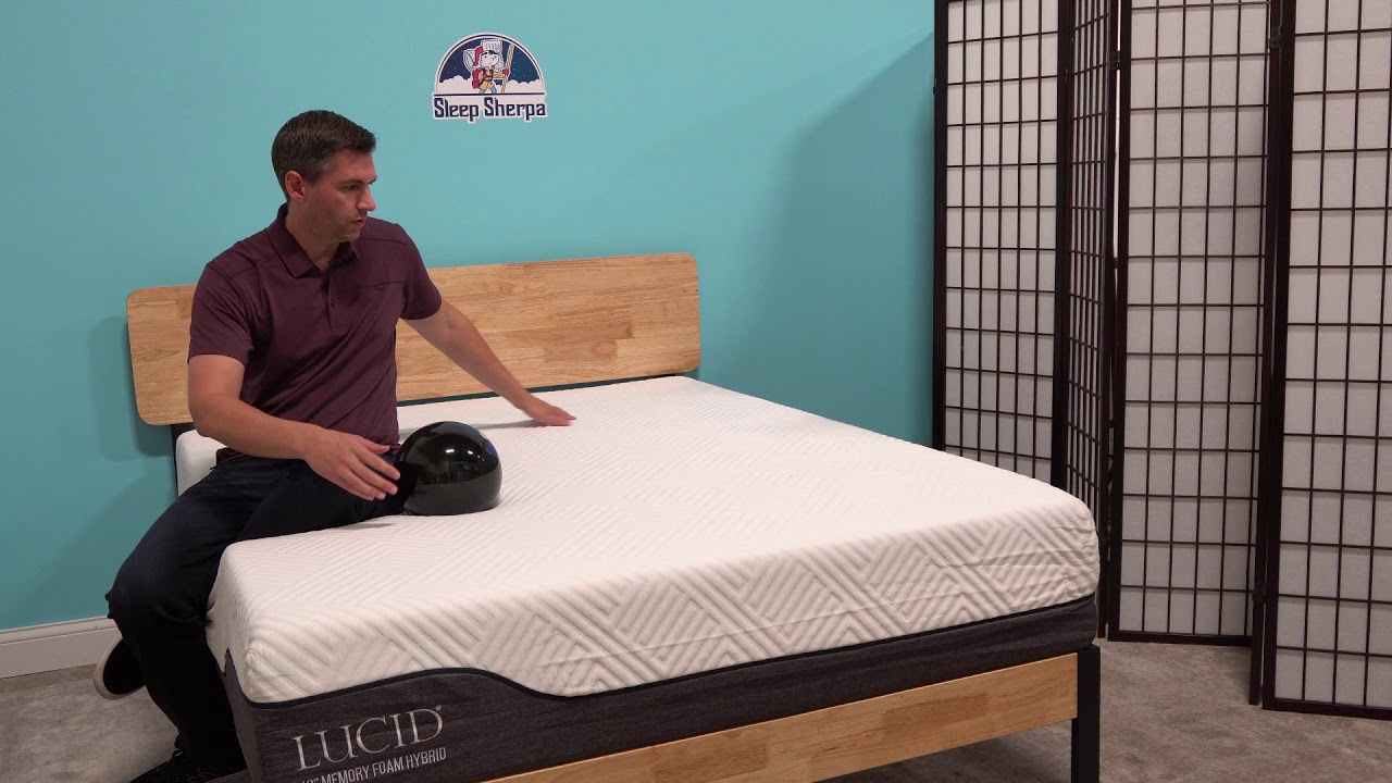 lucid hybrid mattress 12 inch review youtube. Black Bedroom Furniture Sets. Home Design Ideas