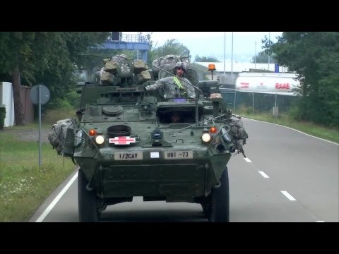 M1126 Infantry Carrier Vehicle Convoy to Ramstein Air Base