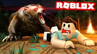 Surviving a BEAR ATTACK in Roblox..
