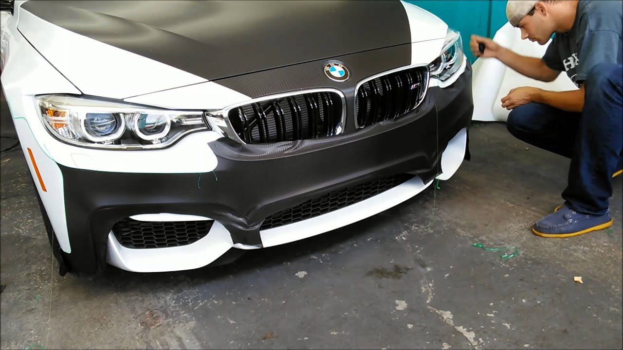 2015 Bmw M4 Front Bumper Wrap Youtube