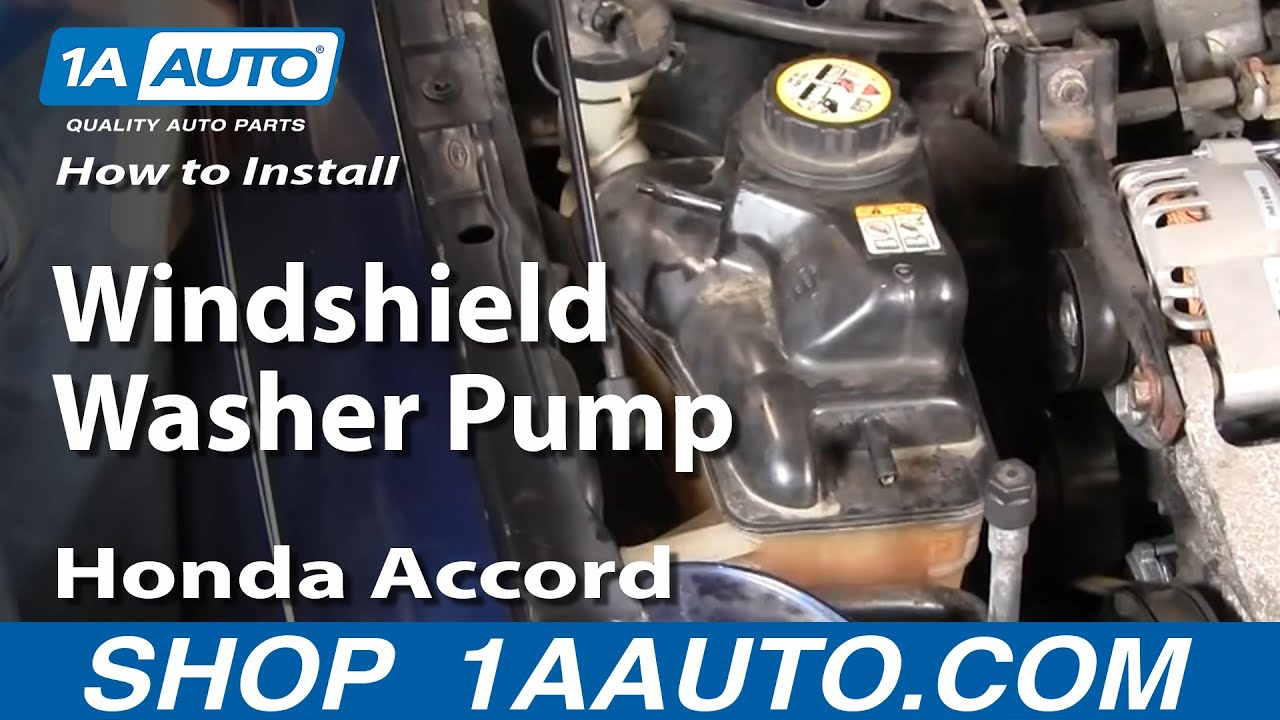 How To Install Replace Windshield Washer Pump Honda Accord