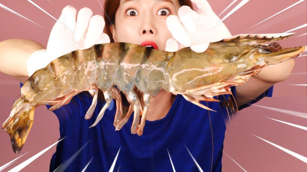 [Mukbang] 초대왕 간장새우장🦐 GIANT SHRIMP Soy Sauce ASMR eatingshow eatingsound realsound Ssoyoung