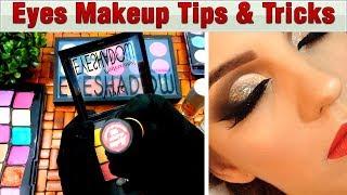 Quick Eye Makeup Tips & Tricks for Newbies - Brush, eye pellets Tutorial Step by Step Urdu Hindi