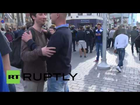 France: English fans verbally harass RT correspondent during live broadcast in Lille