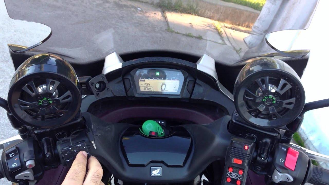 Honda Integra 700 NC700D Shark Audio + PA system + Air horn - YouTube