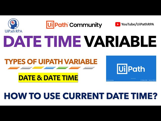 UiPath Date Time Variable|UiPath RPA Tutorial in Hindi