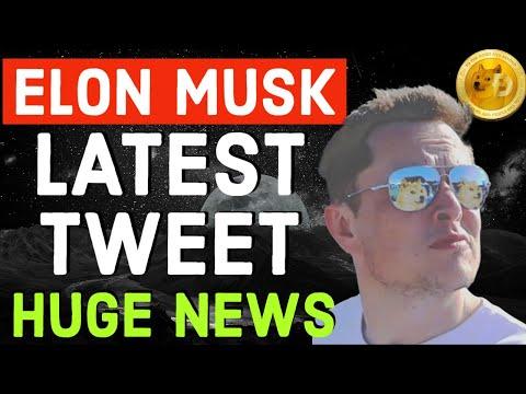 DOGECOIN HUGE ANNOUNCEMENT !! ELON MUSK LATEST TWEET!!  LATEST BREAKING NEWS
