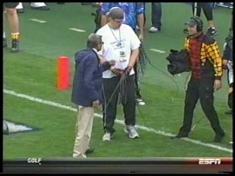 Joe Paterno attacks cameraman