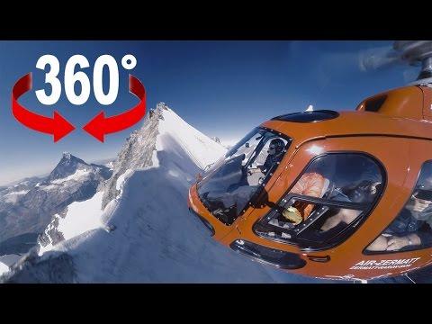 Unterwegs mit den Bergrettern der Air Zermatt I 360 Video