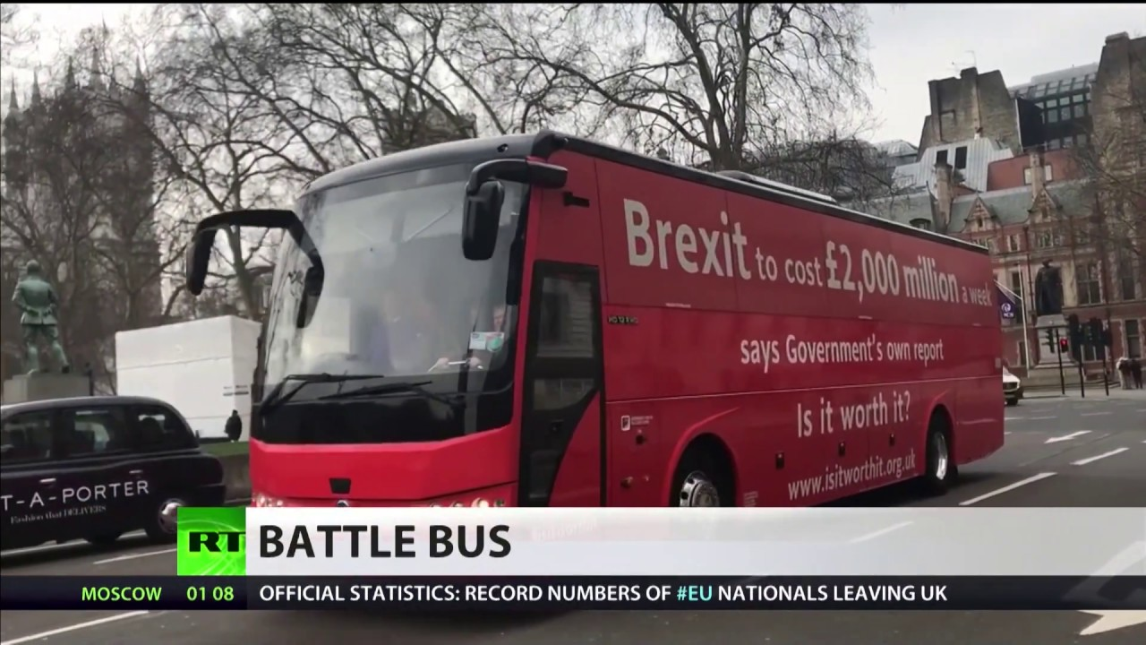 Oxford City Council 'bans' anti-Brexit bus from parking in city centre