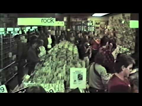 Bangles in store signing Discount Records Cambridge MA Oct 4, 1984