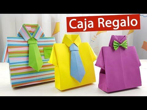 🎁 Caja de regalo en forma de camisa para el Día del Padre - YouTube