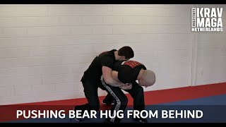 Krav Maga Technique of the Week: Pushing Bear Hug from Behind with Heath Leavitt