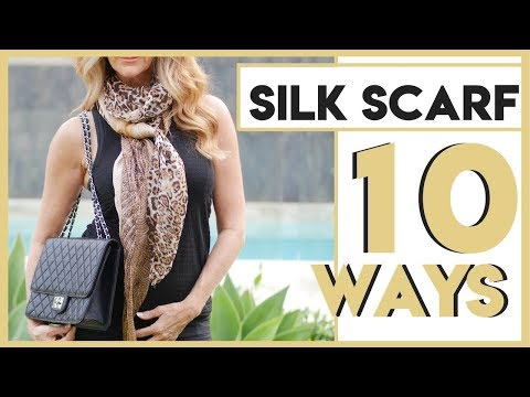 How To Style A Silk Scarf | Silk Scarf 10 Ways - Fabulous50s