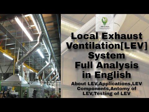 Local Exhaust Ventilation System in English 🔥🔥🔥| Full Analysis | Industrial Hygiene