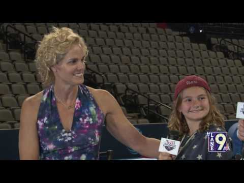 US Olympic Team Trials - Swimming; #Lane9 Night 4: Dara Torres and Tessa Hoffman Interview