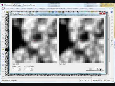 Demo of a free 2d dic digital image correlation software Free 2d software