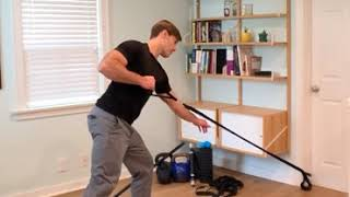 Row with Rotation Split Stance (open hip low anchor)