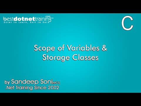 Scope of Variables and Storage Classes - C Programming Language