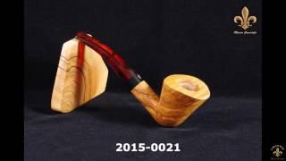 "2015-0021 ""dublin Half Bent"" Olivewood Pipe Mastro Grandolfo"