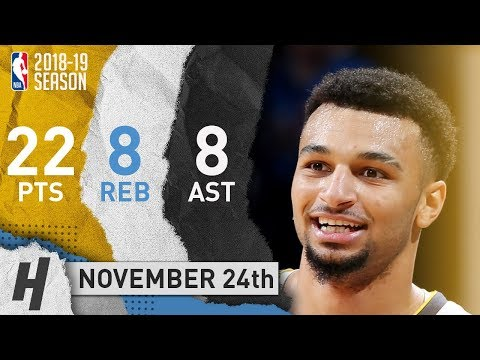Jamal Murray Full Highlights Nuggets vs Thunder 2018.11.24 - 22 Pts, 8 Ast, 8 Rebounds!