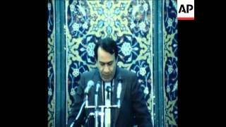 UPITN 14/02/80 IRAN'S NEW FOREIGN MINISTER SADEGH GHOTBZADEH CAMPAIGNING IN TABRIZ