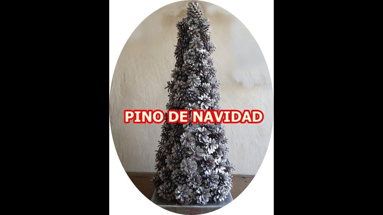 Como hacer un arbol de navidad con pi as super facil - Manualidades navidad con pinas ...