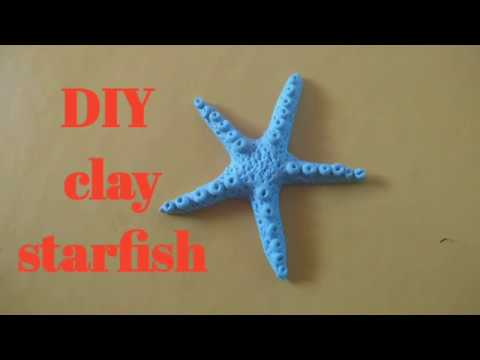 How To Make Starfish From Clay/ Sea Shells From Clay  / @ Clay Starfish Making