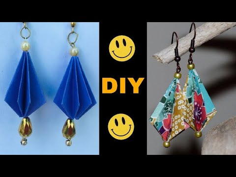 DIY Tutorial : -Paper Earrings very beautiful and very cute scrapbook Earrings
