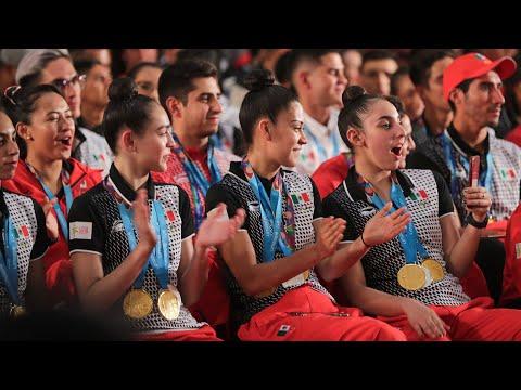 Entrega de reconocimientos a la delegación mexicana de los Juegos Panamericanos de Lima 2019