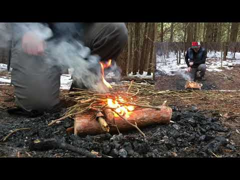 How to Start a Fire with Birch Bark and a Ferro Rod