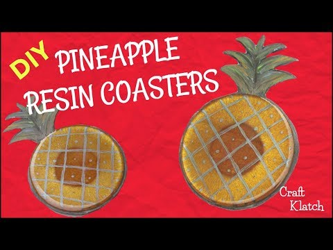 How To Make A Pineapple Resin Coaster DIY | Another Coaster Friday | Craft Klatch