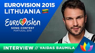 Vaidas Baumila Eurovision-2015 Lithuania English interview
