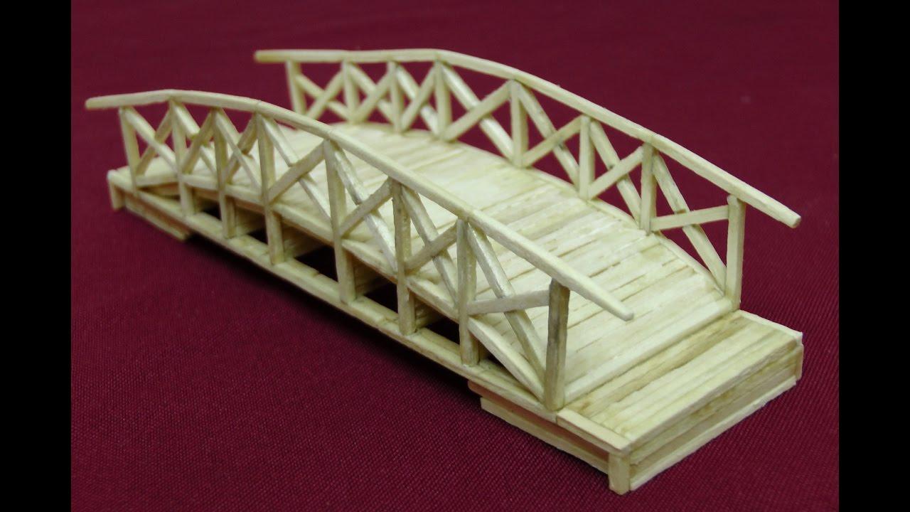 Ажурный мост из спичек | сделай сам