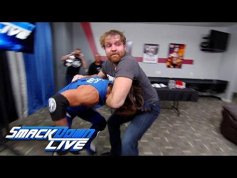 Dean Ambrose gets into a backstage brawl with AJ Styles: SmackDown LIVE, Nov. 29, 2016