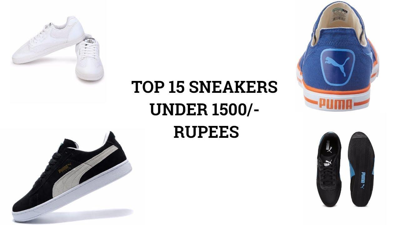 Top 15 sneakers under 1500/. Rupees