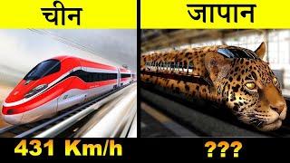 चीन vs जापान | China vs Japan Full Countries Comparison UNBIASED 2018 | जापान बुलेट ट्रेन