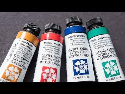 Indanthrone Blue + Organic Vermilion + Monte Amiata Natural Sienna (Limited Palette)