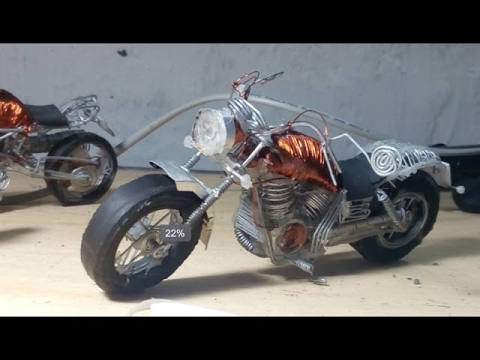 How to make a motorcycle  cruisers style -   only with zinc wire